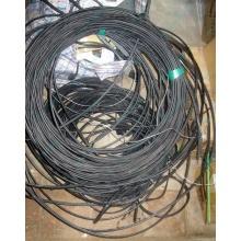 Оптический кабель Б/У для внешней прокладки (с металлическим тросом) в Красногорске, оптокабель БУ (Красногорск)